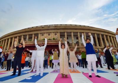 Om Birla launches Fit India drive in Parliament complex