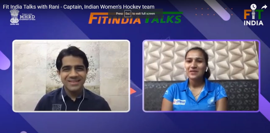 Fit India Talks with Rani - Captain, Indian Women's Hockey team