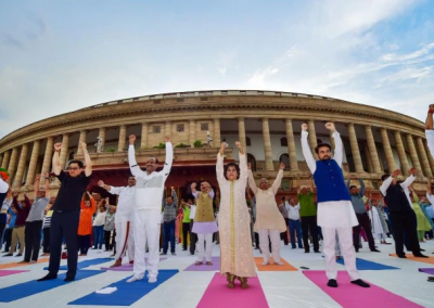 Om Birla launches Fit India drive in Parliament complex