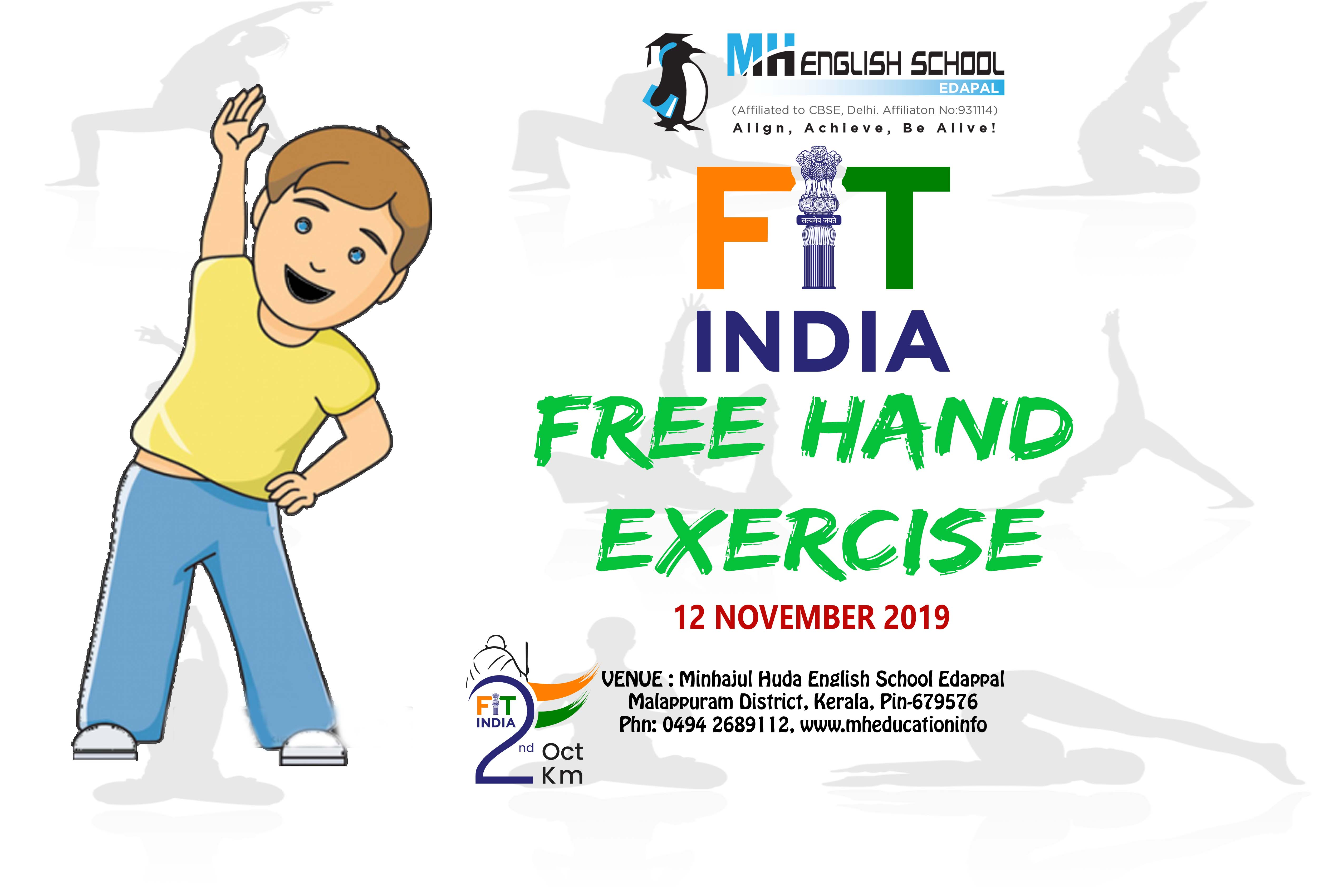 Morning Assembly Free Hands Exercise For All Fit India